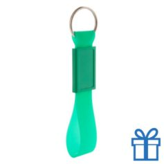 Siliconen sleutelhanger  groen bedrukken