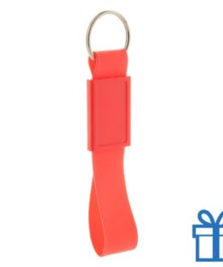 Siliconen sleutelhanger  rood bedrukken