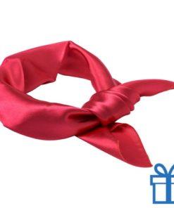 Sjaal dames rood bedrukken