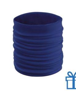 Sjaal kinder polyester blauw bedrukken