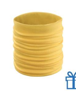 Sjaal kinder polyester geel bedrukken