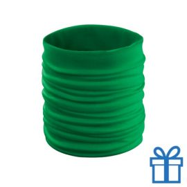 Sjaal kinder polyester groen bedrukken