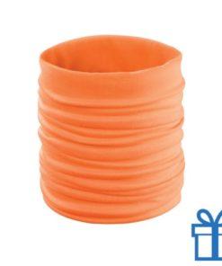 Sjaal kinder polyester oranje bedrukken