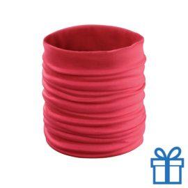Sjaal kinder polyester rood bedrukken