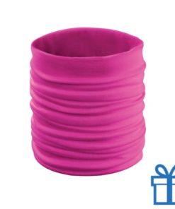 Sjaal kinder polyester roze bedrukken