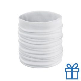 Sjaal kinder polyester wit bedrukken