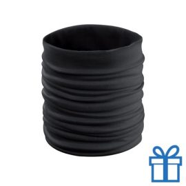 Sjaal kinder polyester zwart bedrukken