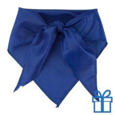 Sjaal polyester driehoek blauw bedrukken