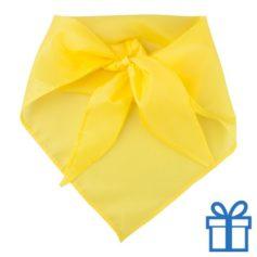 Sjaal polyester driehoek geel bedrukken