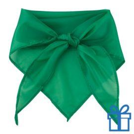Sjaal polyester driehoek groen bedrukken