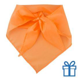 Sjaal polyester driehoek oranje bedrukken