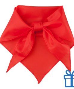 Sjaal polyester driehoek rood bedrukken