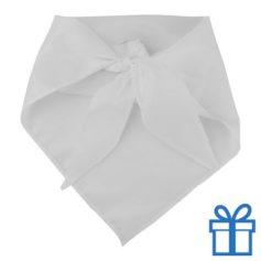 Sjaal polyester driehoek wit bedrukken