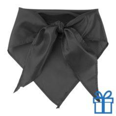Sjaal polyester driehoek zwart bedrukken