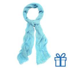 Sjaal unisex blauw bedrukken