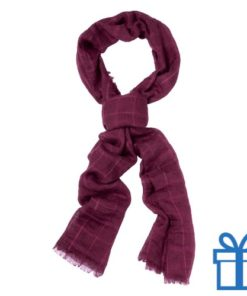 Sjaal unisex bordeaux bedrukken