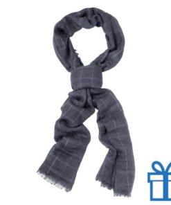 Sjaal unisex grijs bedrukken