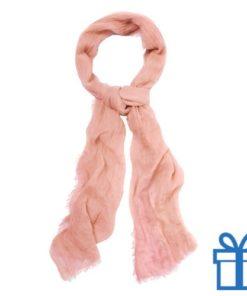 Sjaal unisex naturel bedrukken