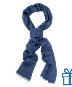 Sjaal unisex navy bedrukken