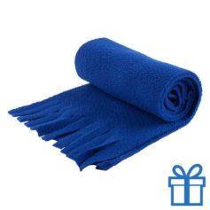 Sjaal unisex polar blauw bedrukken