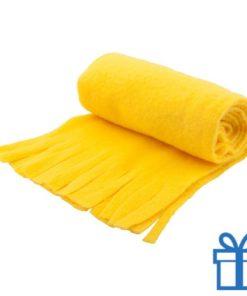 Sjaal unisex polar geel bedrukken