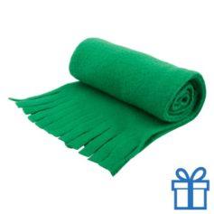 Sjaal unisex polar groen bedrukken
