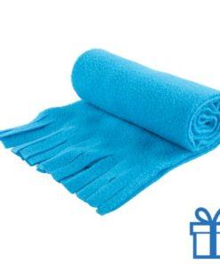 Sjaal unisex polar lichtblauw bedrukken