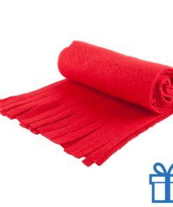 Sjaal unisex polar rood bedrukken