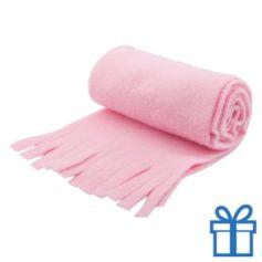 Sjaal unisex polar roze bedrukken