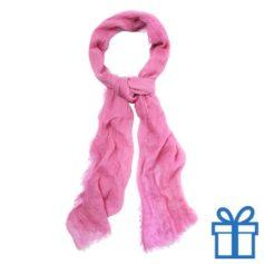 Sjaal unisex roze bedrukken