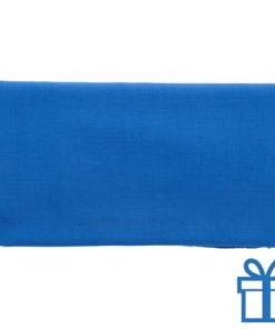 Sjaal viscose blauw bedrukken