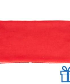 Sjaal viscose rood bedrukken