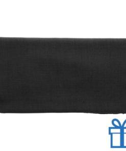 Sjaal viscose zwart bedrukken