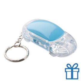 Sleutelhanger auto LED blauw bedrukken