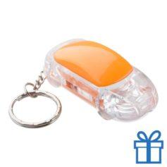 Sleutelhanger auto LED oranje bedrukken
