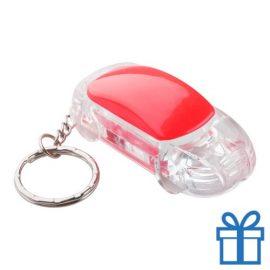 Sleutelhanger auto LED rood bedrukken