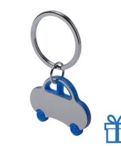 Sleutelhanger auto blauw bedrukken