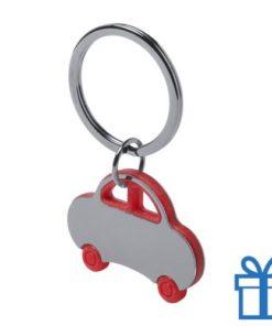 Sleutelhanger auto rood bedrukken