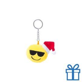 Sleutelhanger emoticon zonnebril bedrukken