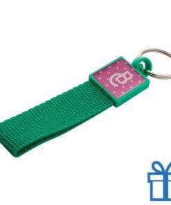 Sleutelhanger gekleurd doming groen bedrukken