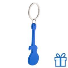 Sleutelhanger gitaar blauw bedrukken