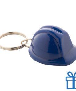 Sleutelhanger helm blauw bedrukken