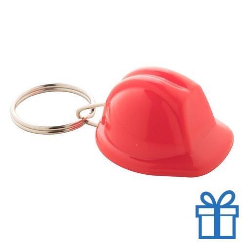Sleutelhanger helm rood bedrukken