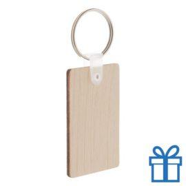 Sleutelhanger hout rechthoek bedrukken