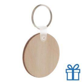 Sleutelhanger hout rond bedrukken