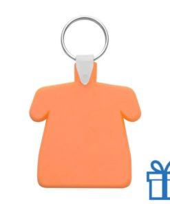 Sleutelhanger huis ring oranje bedrukken