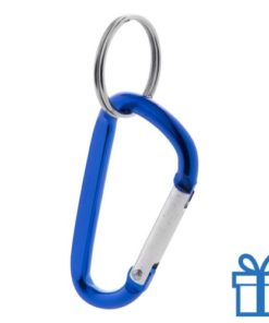 Sleutelhanger karabijnhaakje blauw bedrukken