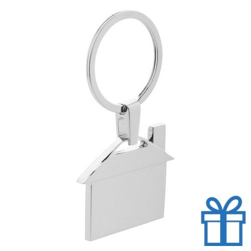 Sleutelhanger metaal huis geschenk bedrukken