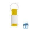 Sleutelhanger metaal polyester geel bedrukken