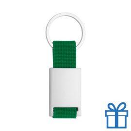 Sleutelhanger metaal polyester groen bedrukken